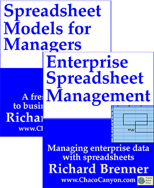 Package: Spreadsheet Models for Managers and Enterprise Spreadsheet Management, online editions