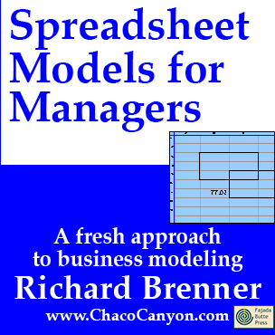 Spreadsheet Models for Managers, downloadable hyperbook Edition