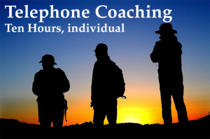 Ten hours of Telephone Coaching, individual